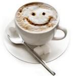 Beba café e seja feliz