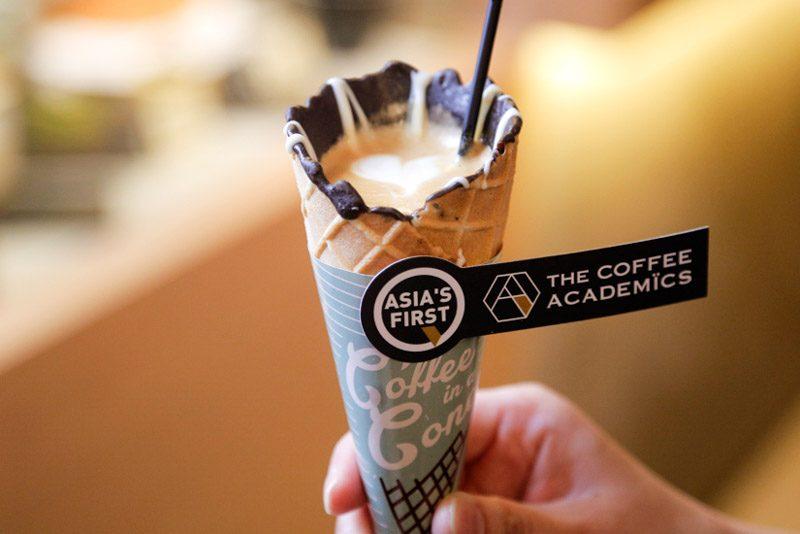 café na casquinha de sorvete